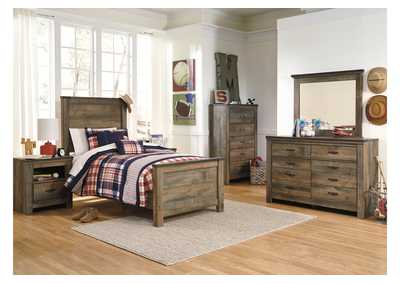 Image for Trinell Brown Twin Panel Bed, Dresser & Mirror