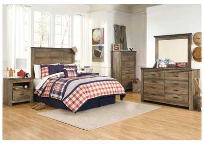 Image for Trinell Brown Twin Panel Headboard, Dresser & Mirror