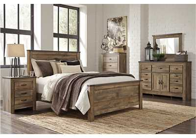 Trinell Queen Panel Bed w/ Dresser and Mirror