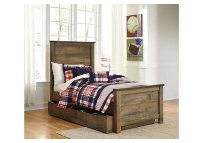 Image for Trinell Brown Twin Panel Storage Bed