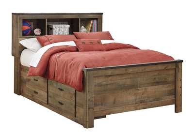 Image for Trinell Brown Full Bookcase Storage Bed