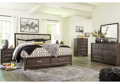 Image for Brueban Gray Storage King Bed w/Dresser and Mirror
