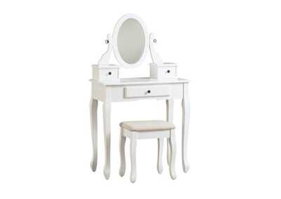 Image for Kaslyn Vanity and Mirror with Stool