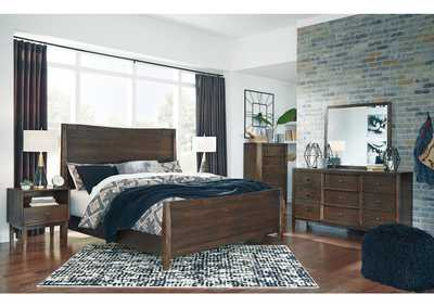 Image for Kisper Brown Queen Panel Bed w/Dresser and Mirror