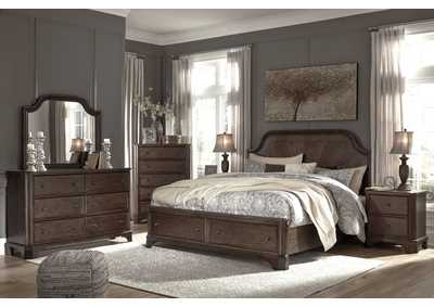 Image for Adinton Brown King Storage Bed w/Dresser and Mirror