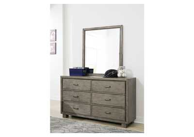 Arnett Gray Dresser and Mirror,Signature Design By Ashley