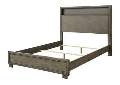 Arnett Gray Full Bookcase Panel Bed,Signature Design By Ashley