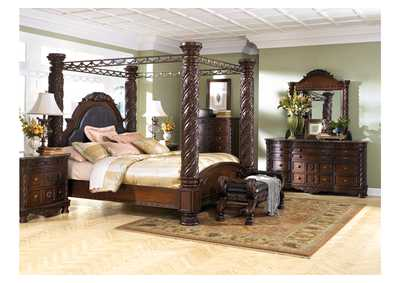 Image for North Shore King Poster Bed, Dresser & Mirror