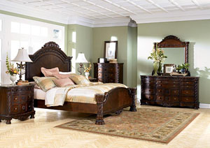 Image for North Shore Queen Panel Bed, Dresser & Mirror