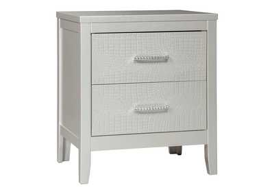 Olivet Silver Two Drawer Night Stand,Signature Design By Ashley