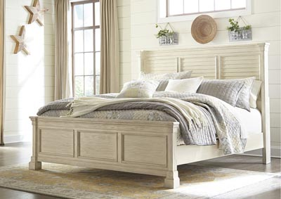 Bolanburg White California King Louvered Bed