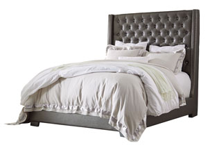 Coralayne Gray King Upholstered Bed,Signature Design By Ashley