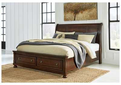 Porter California King Sleigh Storage Bed