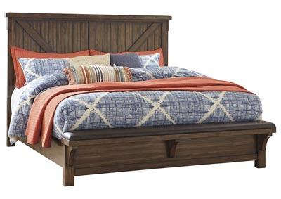 Lakeleigh Brown Queen Bed w/Bench Footboard