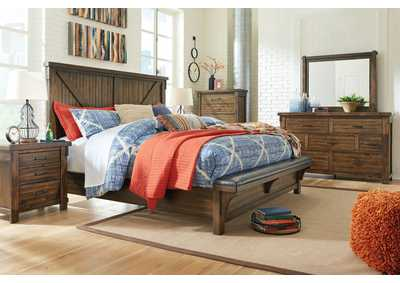 Image for Lakeleigh Brown Queen Bed w/Bench Footboard,Dresser and Mirror