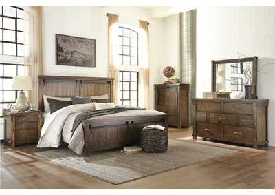 Image for Lakeleigh Brown Queen Panel Bed w/Dresser and Mirror