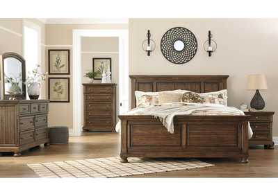 Image for Flynnter Medium Brown King Panel Bed