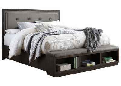 Image for Hyndell King Upholstered Panel Bed with Storage