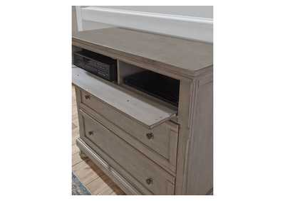 Lettner Light Gray Media Chest,Signature Design By Ashley