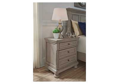 Lettner Light Gray Two Drawer Night Stand,Signature Design By Ashley