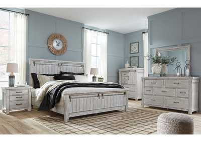 Brashland California King Panel Bed w/Dresser and Mirror