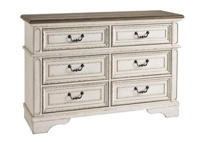 Image for Realyn Chipped White Youth Dresser