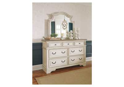 Realyn White/Brown Two-Tone Dresser w/Mirror