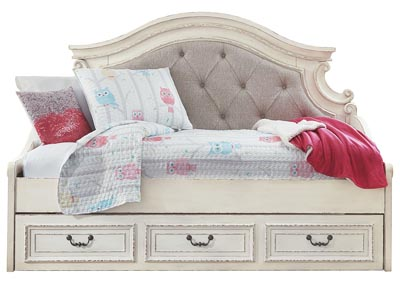 Realyn Chipped White Twin Daybed w/Storage