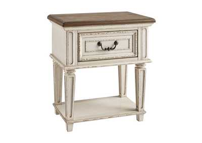 Realyn Chipped White Nightstand,Signature Design By Ashley