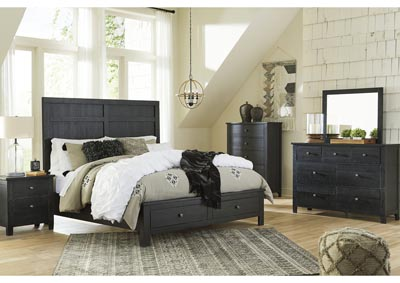 Image for Noorbrook Black King Storage Bed w/Dresser and Mirror