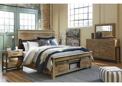 Image for Sommerford Brown Queen Storage Bed w/Dresser and Mirror