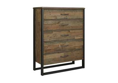 Image for Sommerford Brown Five Drawer Chest