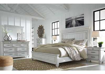 Image for Kanwyn Whitewash Queen Bed w/Dresser and Mirror