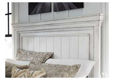 Kanwyn Whitewash King Panel Bed,Benchcraft