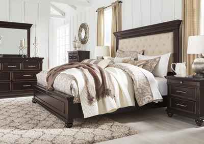 Brynhurst Brown King Upholstered Panel Bed,Signature Design By Ashley