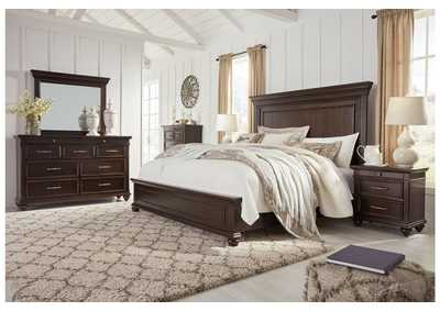 Brynhurst Brown King Panel Bed Dresser w/Mirror