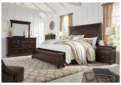 Brynhurst Brown King Storage Bed Dresser w/Mirror,Signature Design By Ashley