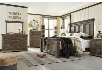 Image for Wyndahl Brown King Panel Bed w/Dresser and Mirror