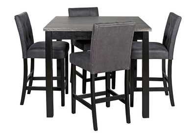 Garvine Two-tone Counter Height Dining Room Table and Bar Stools (Set of 5)