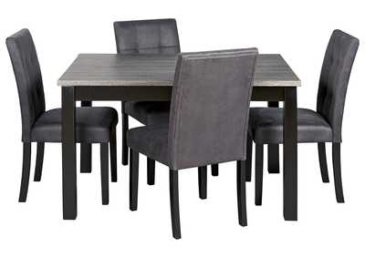 Garvine Two-tone Dining Room Table and Chairs (Set of 5)