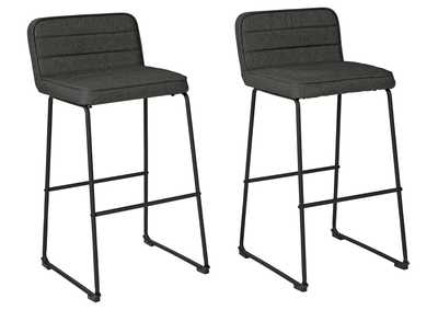 Image for Nerison Bar Height Bar Stool (Set of 2)