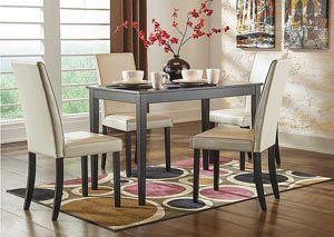 Image for Kimonte Rectangular Dining Table w/4 Ivory Chairs
