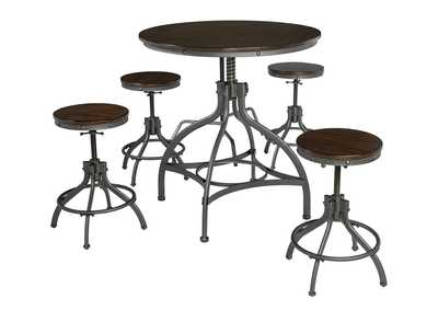 Image for Odium Brown Dining Room Counter Table Set