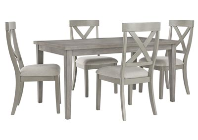 Image for Parellen Gray Dining Table w/4 Side Chair