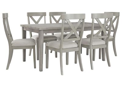 Image for Parellen Gray Dining Table w/6 Side Chair