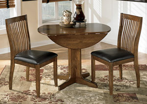 Stuman Round Drop Leaf Table & 2 Side Chairs,Direct To Consumer Express