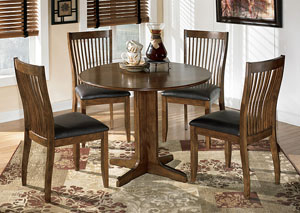 Image for Stuman Round Drop Leaf Table & 4 Side Chairs