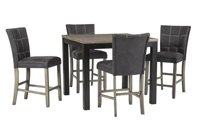 Dontally Two-tone Counter Height Dining Room Table w/4 Bar Stool