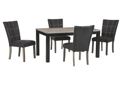 Dontally Two-tone Dining Room Table w/4 Side Chair