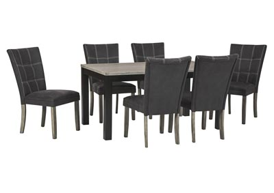 Dontally Two-tone Dining Room Table w/6 Side Chair
